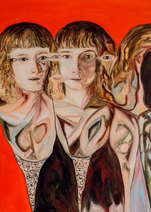 Luisa e il qui di ieri, 2018, oil on canvas, 70 x 50 cm