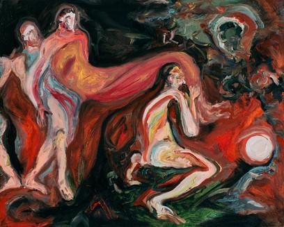 Deposizione, 2018, oil on canvas, 24 x 30 cm