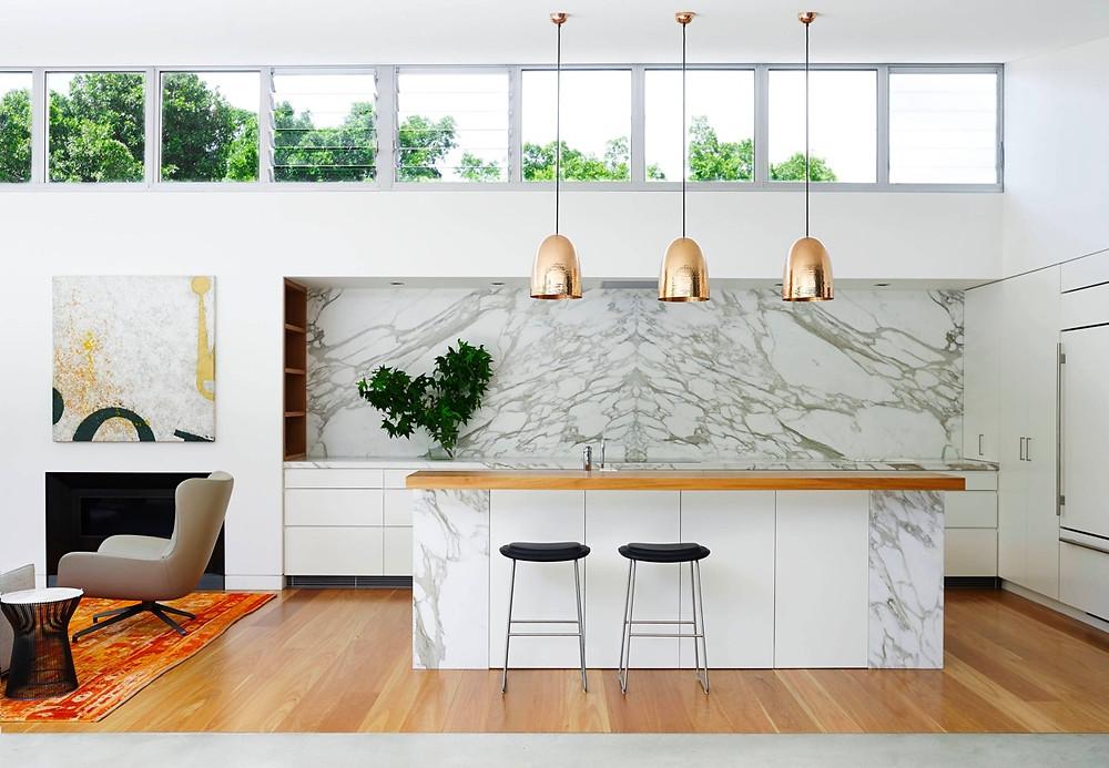 Marmer mewah untuk dapur minimalis modern