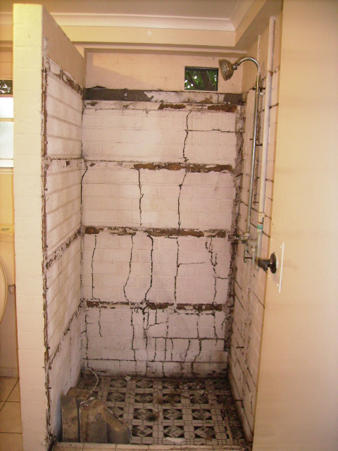 Mudding Leads Behind Shower