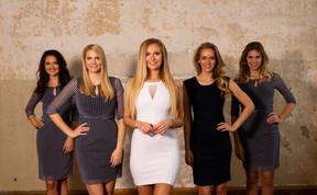 Shanna, Sabine, Marie, Michelle, Lucy für Imageshooting WIMA Models
