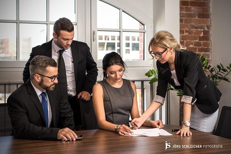 Matthias, Christopher, Michelle, Marie für Businessvillage Chemnitz