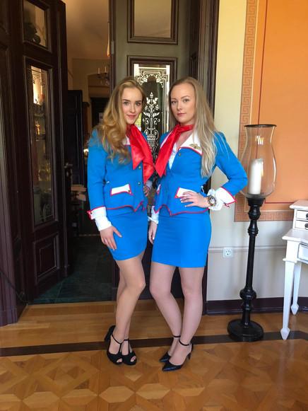 Chantal und Fiona für Wohnungsgebossenschaft Flöha