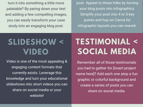 [Infographic] 7 Ways to Upgrade Your Existing Content