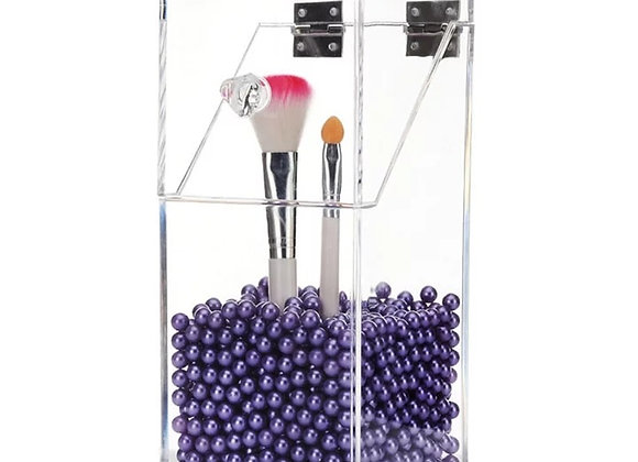 Acrylic Brush Storage w/ Lid