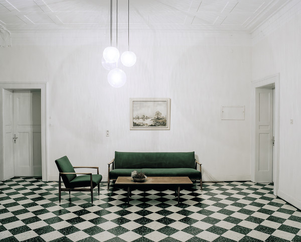 Sofa on chessboard