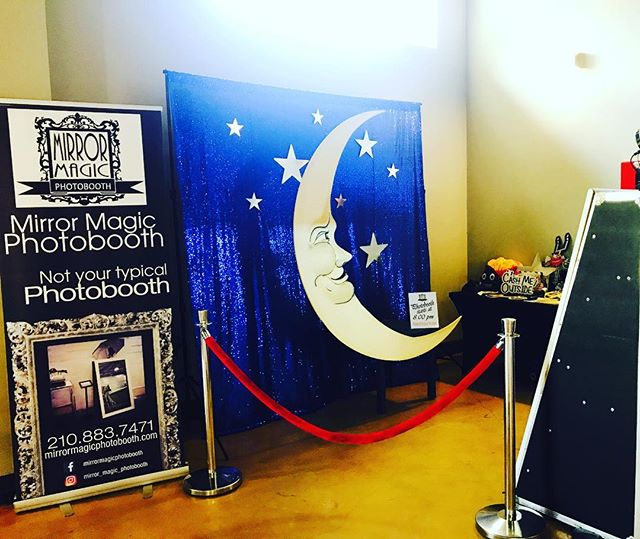 Anything you want, we can do! Check out our setup for tonight! #sittingonthemoon #mirrormagicphotobo