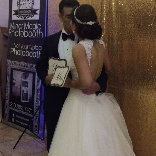 Congratulations Yatzel and Roberto on your wedding day! #mirrormagicphotobooth #saweddings #photoboo