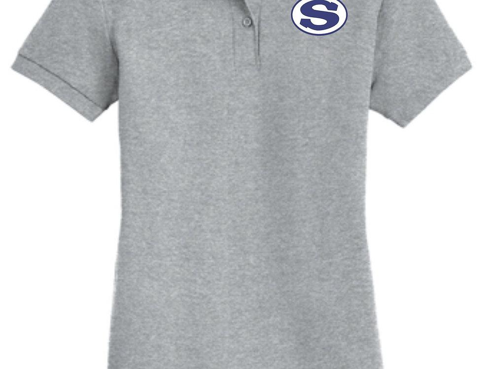 4SW02572800LSCA    Ladies DryBlend® 6-Ounce Double Pique Sport Shirt