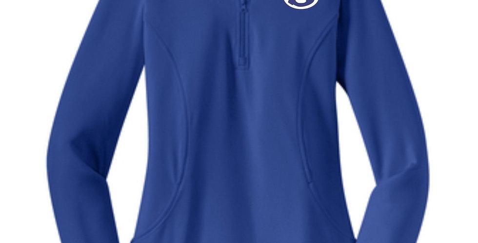 4SW021L850SCA     Sport-Tek® Ladies Sport-Wick® Stretch 1/2-Zip Pullover