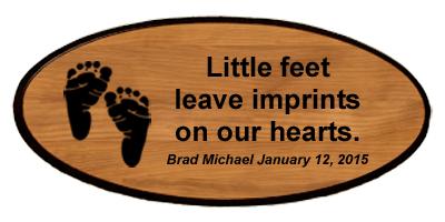 Baby Keepsake - Footprints Personalized