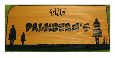 Palmbergs Cedar Sign