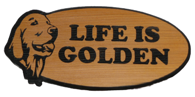 Life Is Golden - Oval