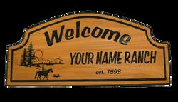 Cedar Ranch Welcome Sign