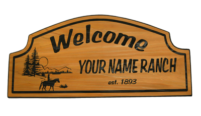 Welcome (your name ranch) Cedar Sign