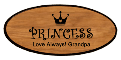 Statement Keepsake - Princess Personalized