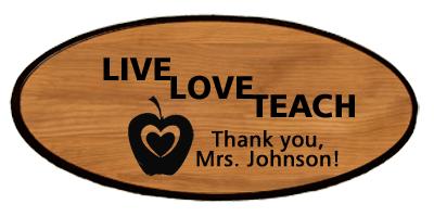 Teacher Keepsake - Live Love Teach Personalized