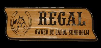 Regal Cedar Sign