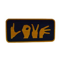 Love Sign Handcrafted in Cedar
