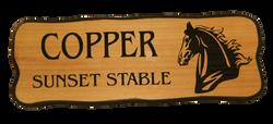Horse Stall Cedar Plaque