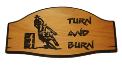 Turn and Burn Barrel Racing Sign
