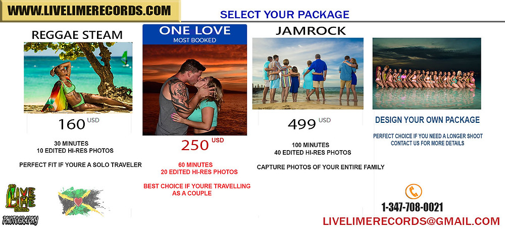 Jamaica Vacation Photography Packages