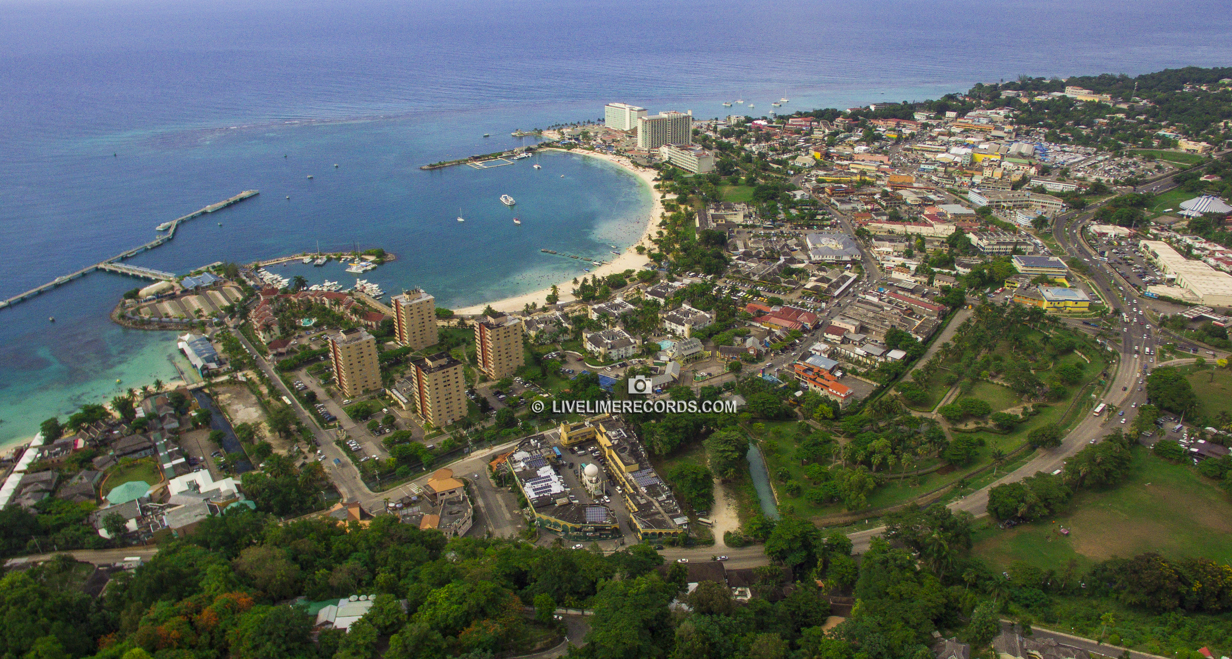 aerial pic of ocho rios jamaica - by livelimerecords