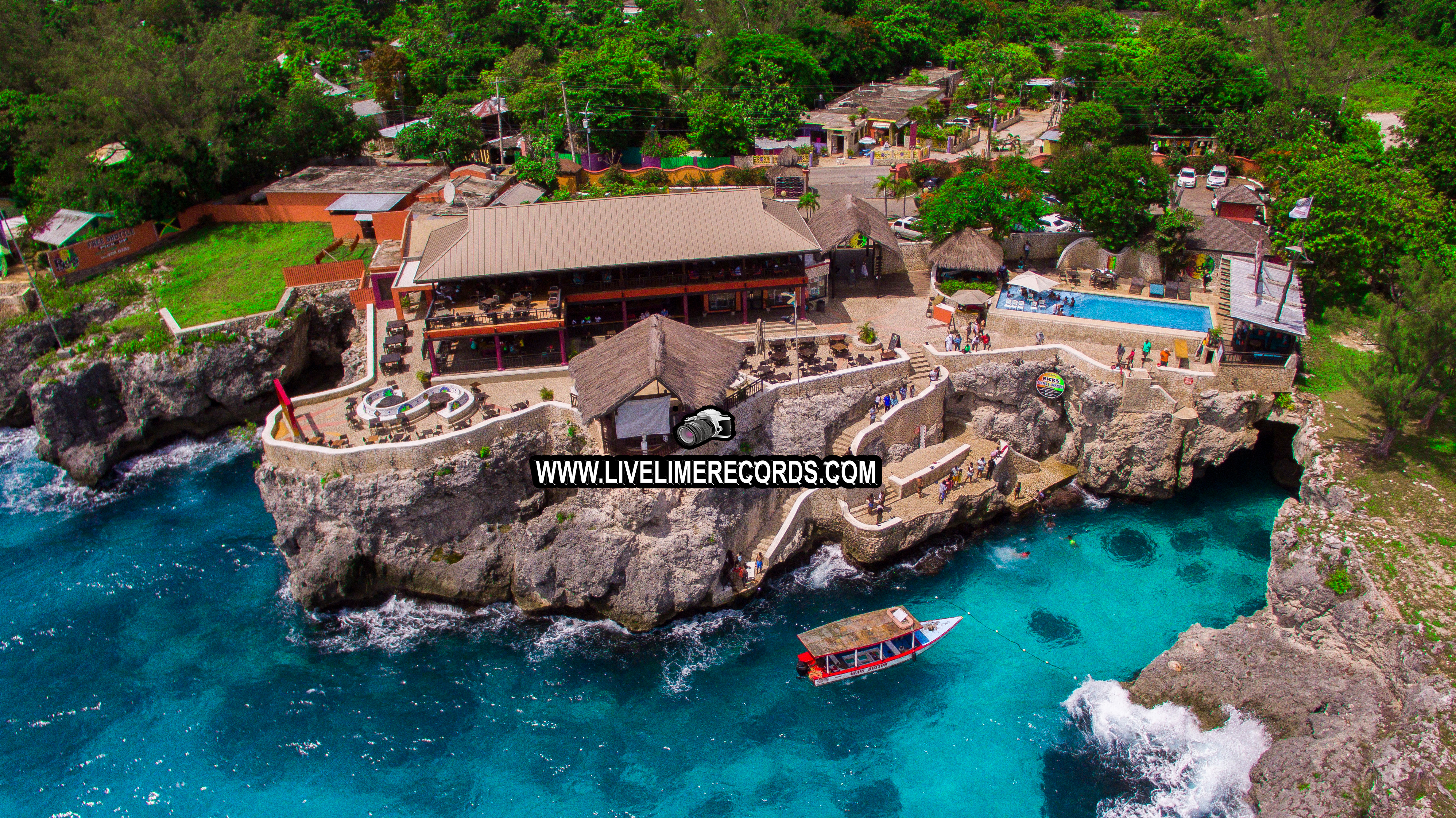 Ricks Cafe (Negril) Drone pic by Live Lime Records Photography & Tours - Best Photographer in Jamaic