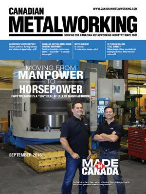 Canadian Metalworking magazine - Ellery Manufacturing discusses their move from manual to CNC machining.