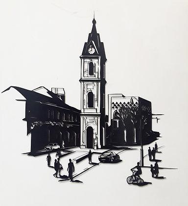 מגדל השעון ביפו - תמונת מתכת