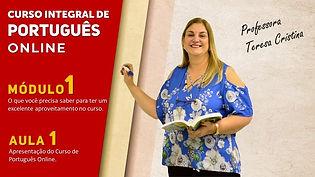 Apresentação do Curso Integral de Portug
