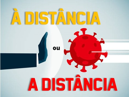 Quando usar À distância e A distância.