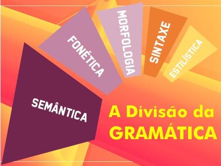 Por que é importante saber a Divisão da Gramática?