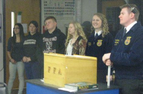 FFA members at podium