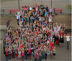 All school photo of students