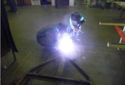 Students welding