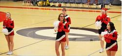 Cheerleaders at game
