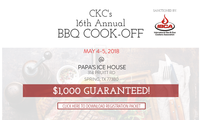 CKC BBQ Cook-Off May 4-5