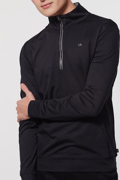 Calvin Klein Newport Half Zip Black Sweater