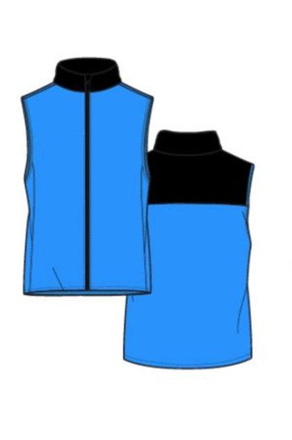 Murray Golf Kerr Contrast Ocean Blue Gilet