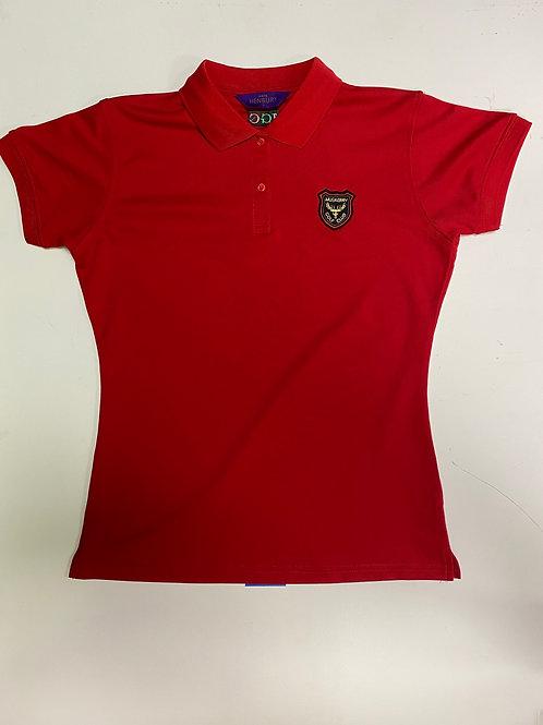 Henbury Red Ladies T-shirt