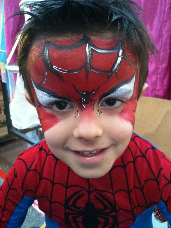 maquillage garçon spiderman