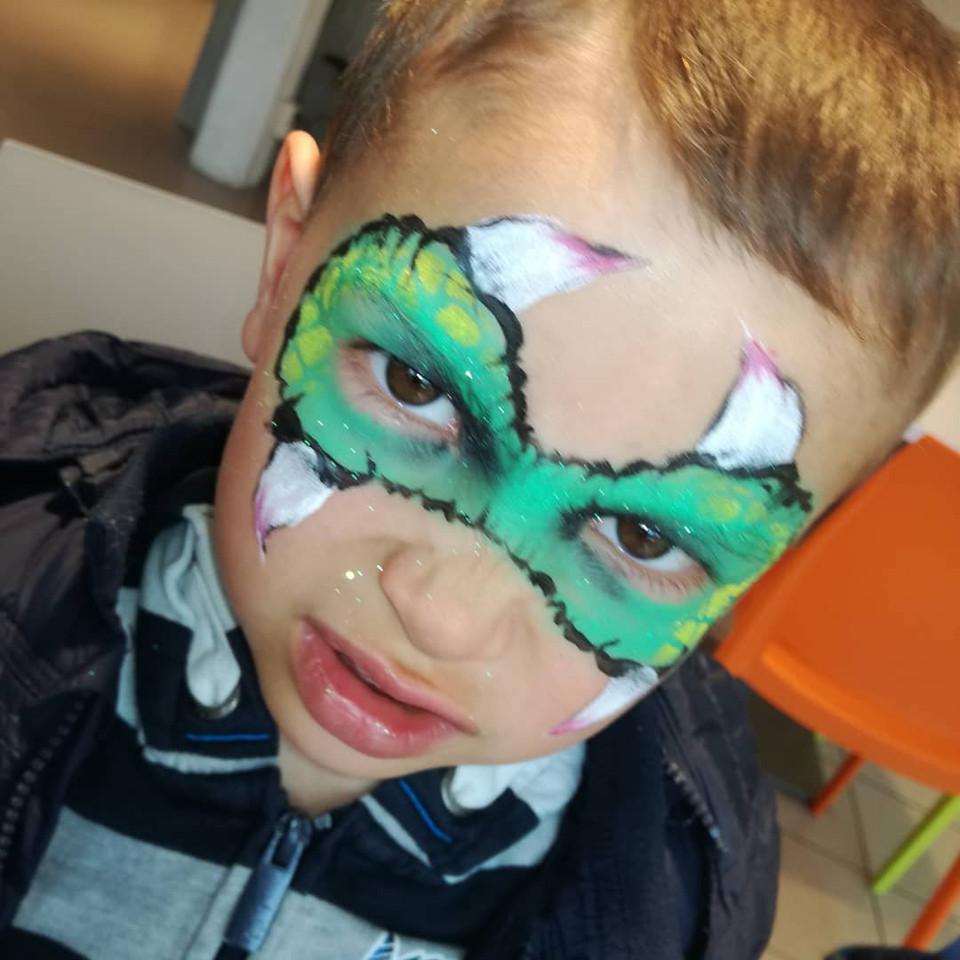 maquillage enfant dragon