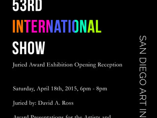 Entelechy #10 accepted into the 53rd INTL Exhibition at the San Diego Art Institute!
