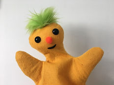 Customizable felt hand puppets