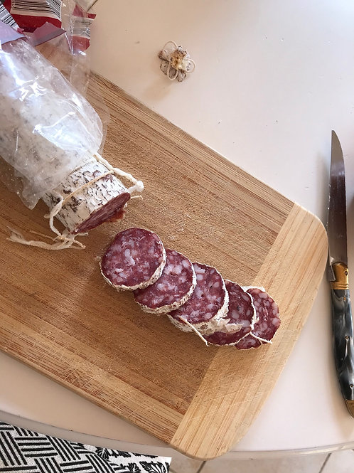 Saucisson sec (herbe de Provence, sel, nature ou noix))