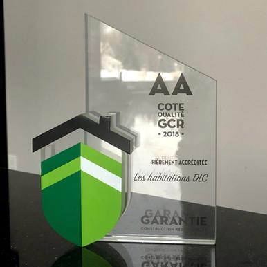 Trophé garantie GCR