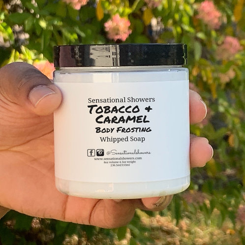 Tobacco & Caramel Body Frosting, Whipped Soap