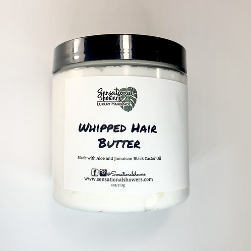 Whipped Hair Butter, Infused with Aloe & Jamaican Castor Oil