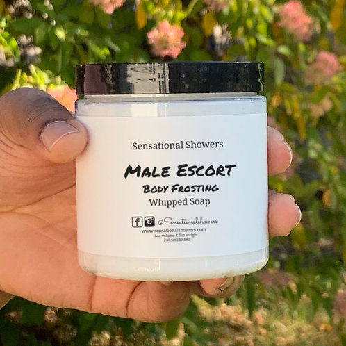 Male Escort Body Frosting, Whipped Soap